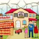 Séne gestaltet Cartoon zum Wertverlust von Immobilien