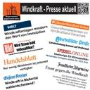 Schlagzeilen zur Energiewende - BI verteilt Infoblatt